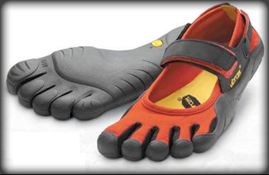 Stupid-looking shoes for stupid-level strength