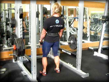 Heavy rack pulls add density from the calves to the traps