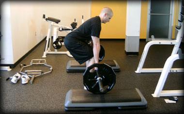 exercise step rack pulls