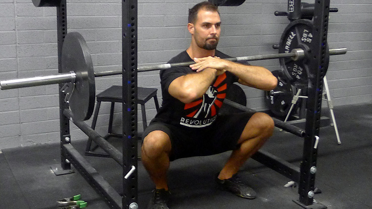 Narrow Stance Front Squats