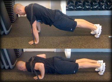 Band-resisted push-ups