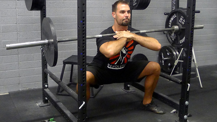 Wide Stance Front Squats