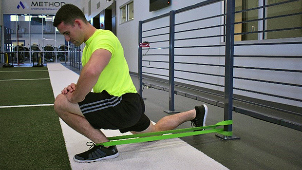 Ankle Stretch Using Resistance Band