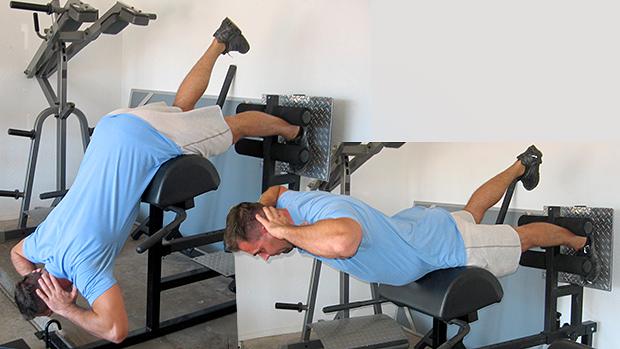 Bodyweight Single-Leg Prisoner Back Extension
