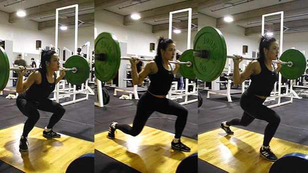 Barbell Jump Lunge