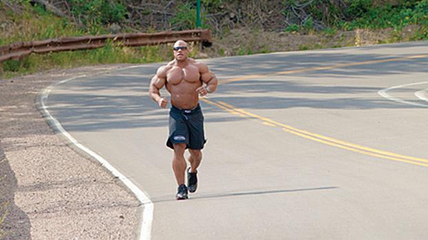 Bodybuilder Running
