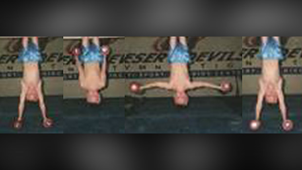 Butterfly performed hanging by knees