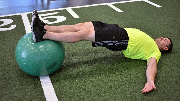 Exercise Ball Hamstring Curl 1