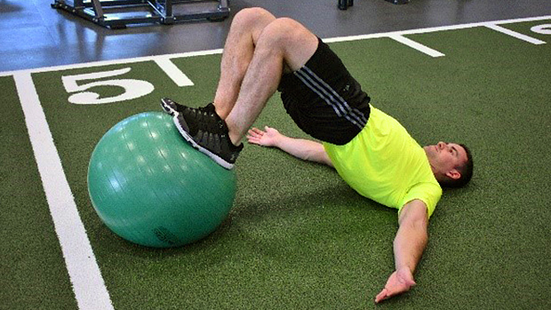 Exercise Ball Hamstring Curl 2