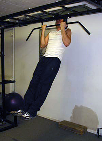 Finished chin-up position