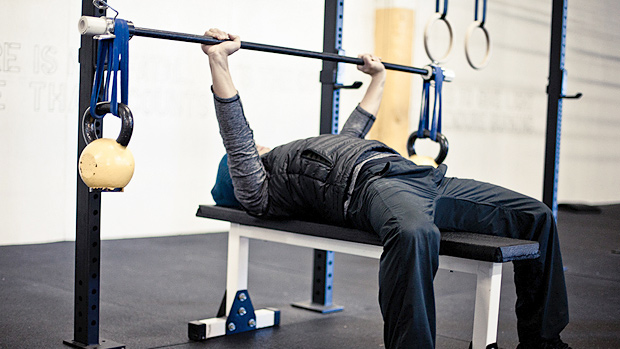 Hanging Band Technique Bench Press