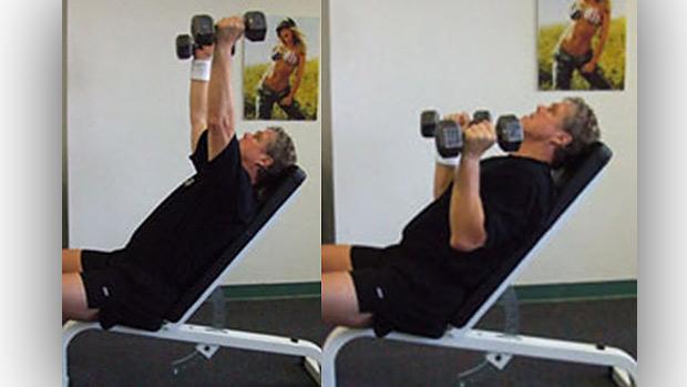 Incline Dumbbell Shoulder Press