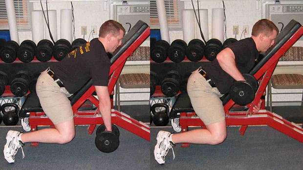 Incline Dumbbell Row