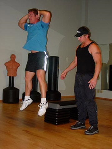 Jumping Box Squat