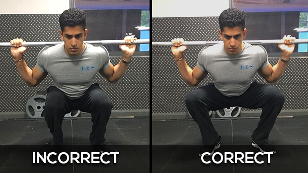 Knee Position Squat