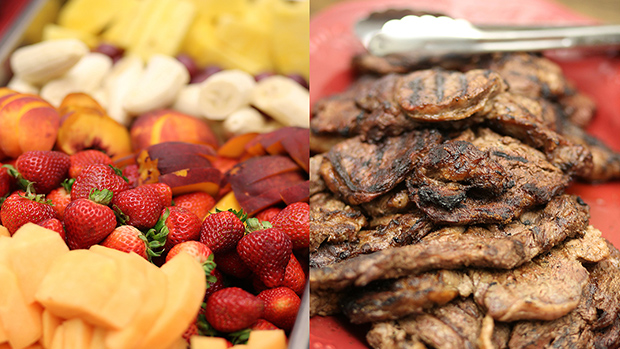 Meat and Fruit