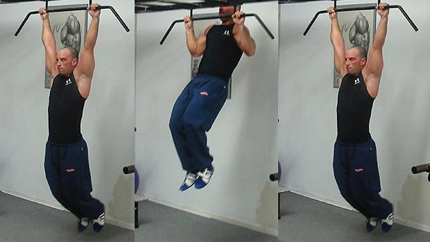 Mid-grip pull-ups