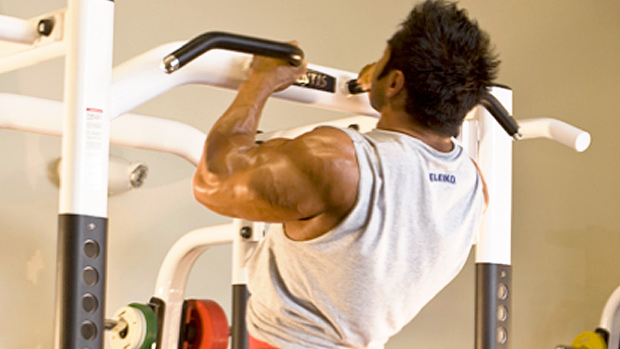 Narrow parallel-grip chin-up