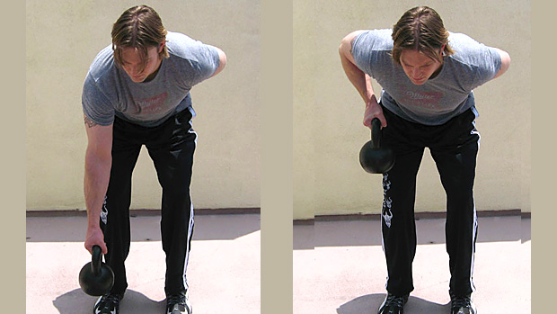 One-Arm Dumbbell Row close