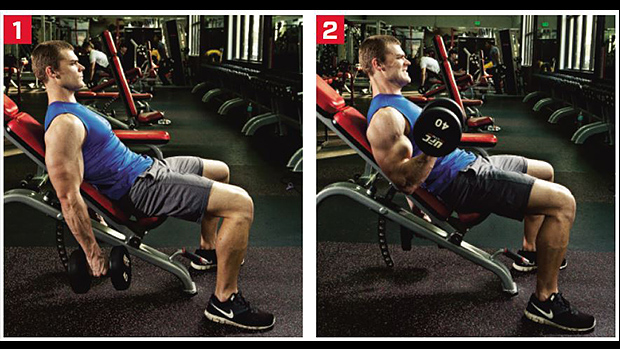 Seated Incline Curl