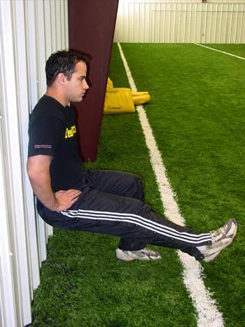 Advanced one legged ski squat