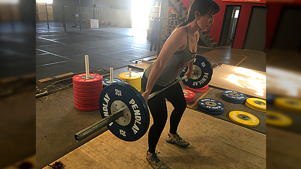 Snatch isometric hold at the top of the Pull leaning out over the bar