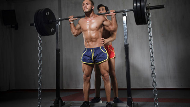 Squat with Chains