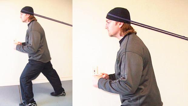 Standing Isometric Neck Flexion