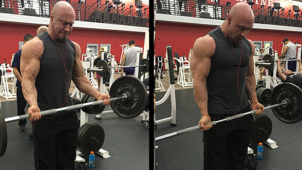 Switch Grip Barbell Curl