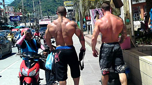 Walking Bodybuilders