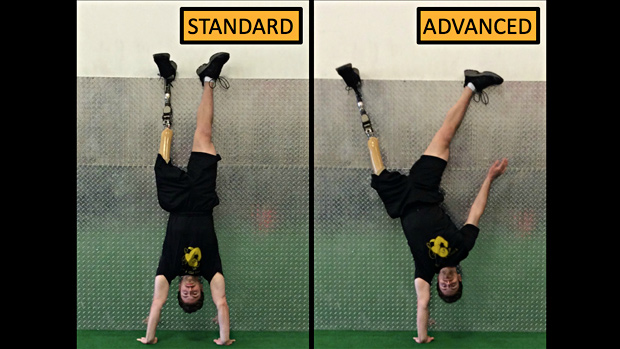 Wall-Supported Handstand Iso Hold