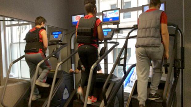 Weight Vest Stepmill