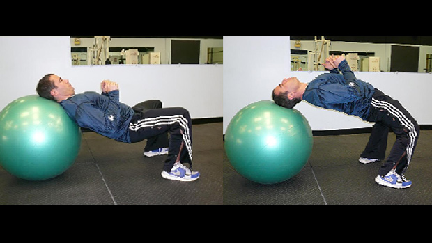 Wrestler's Bridge with Swiss Ball