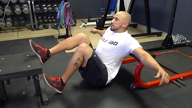 Bottoms-up Single-leg Foot and Shoulder Elevated Hip Thrust 1