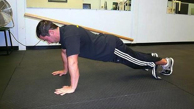 dowel push-up 2
