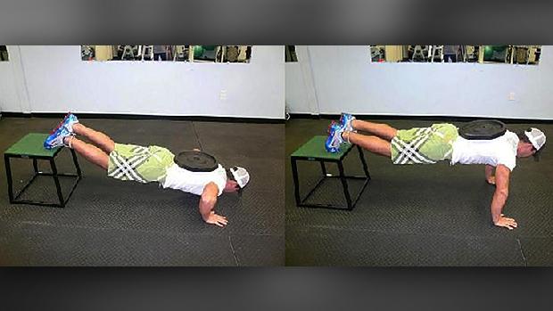 feet-elevated push-ups