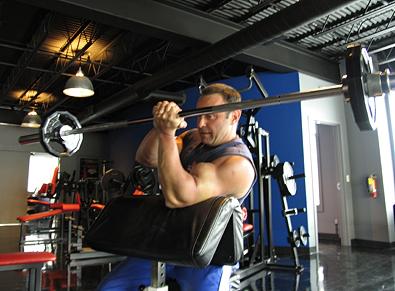 One-Arm Barbell Eccentric Scott Curls