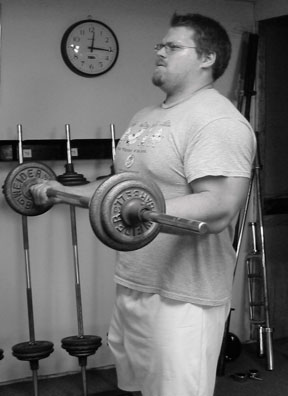 Barbell curl drop, catch and lift