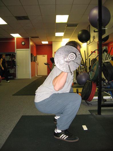 High bar back squat