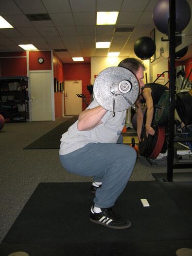 Low bar back squat