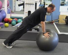 Push-up Plus on Swiss Ball
