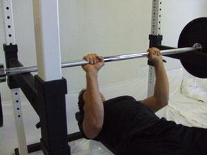 Partial close-grip bench press