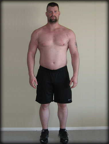 Waterbury client Jon, an aspiring boxer, before the Body of F.I.R.E program.