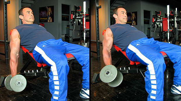Low Incline Offset Dumbbell Curl 1