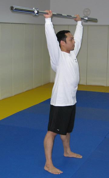 overhead squat - start