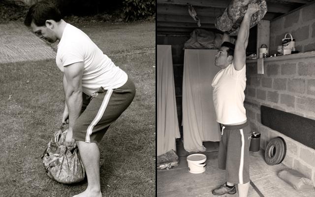 sandbag-exercise-clean-press