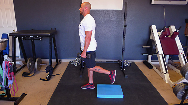 Dumbbell Skater Squat with Countermovement 1