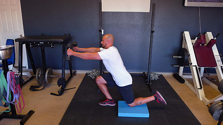Dumbbell Skater Squat with Countermovement 2