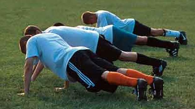 soccer push-up
