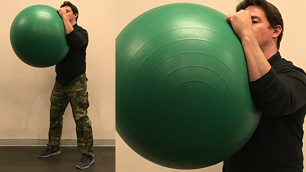 Swiss Ball Squeeze